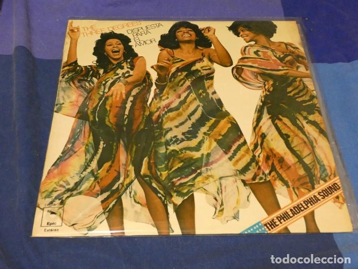LP THE THREE DEGREES DISPUESTA PARA EL AMOR SONIDO FILADELFIA ESPAÑA 77 MUY BUEN ESTADO (Música - Discos - LP Vinilo - Pop - Rock - Internacional de los 70)
