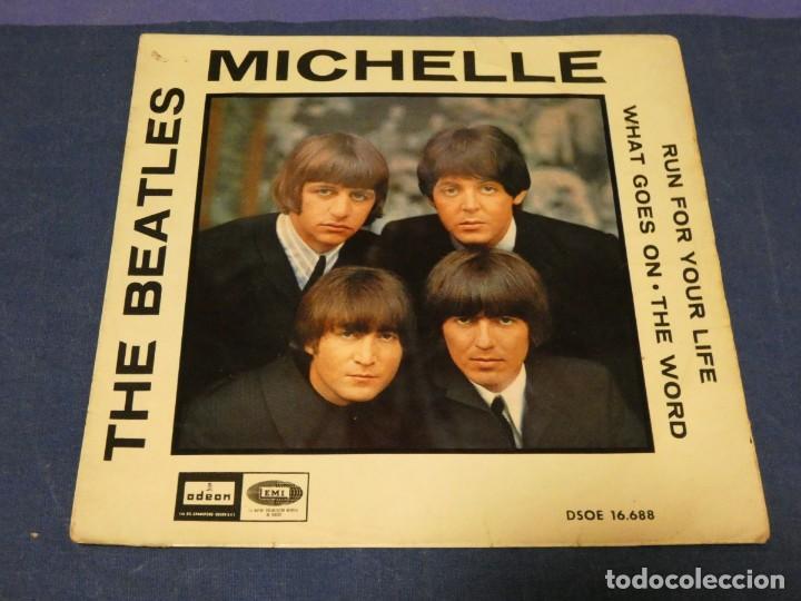 EP DSOE 16688 THE BEATLES MICHELLE + 3 VINILO OK C/PORTADA ALGO SUCIA (Música - Discos - LP Vinilo - Pop - Rock - Internacional de los 70)