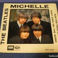 Discos de vinilo: EP DSOE 16688 THE BEATLES MICHELLE + 3 VINILO OK C/PORTADA ALGO SUCIA. Lote 257742615