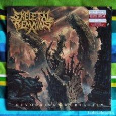 Discos de vinilo: SKELETAL REMAINS - DEVOURING MORTALITY 12'' LP PRECINTADO VINILO ROJO TRANSPARENTE - DEATH METAL. Lote 257746035