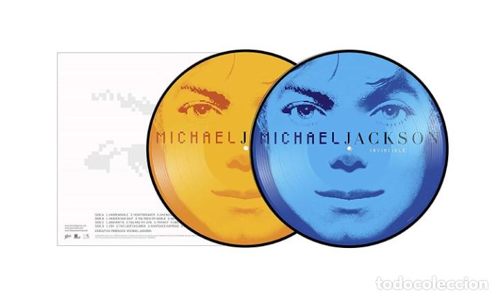 MICHAEL JACKSON INVINCIBLE 2 LPS PICTURE NUEVO (Música - Discos - LP Vinilo - Pop - Rock Internacional de los 90 a la actualidad)