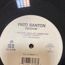 """Discos de vinilo: PATO BANTON - GROOVIN' (I.R.S. RECORDS) (12"""", 45 RPM) (1996/ITALIA) (REGGAE). Lote 257760780"""