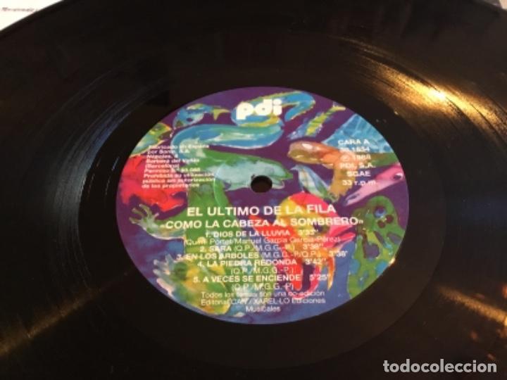 Discos de vinilo: EL ULTIMO DE LA FILA - COMO LA CABEZA AL SOMBRERO - LP PDI 1988 - Foto 2 - 257763045
