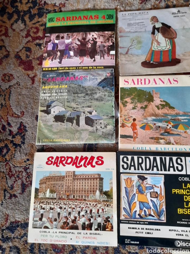 Discos de vinilo: Lote de 13 antiguos ,vinilos de Sardanas, a estrenar - Foto 2 - 257809615