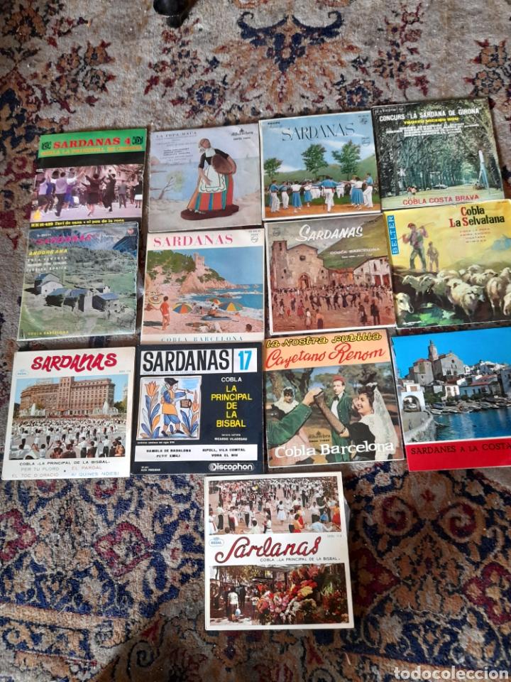 LOTE DE 13 ANTIGUOS ,VINILOS DE SARDANAS, A ESTRENAR (Música - Discos de Vinilo - Maxi Singles - Country y Folk)