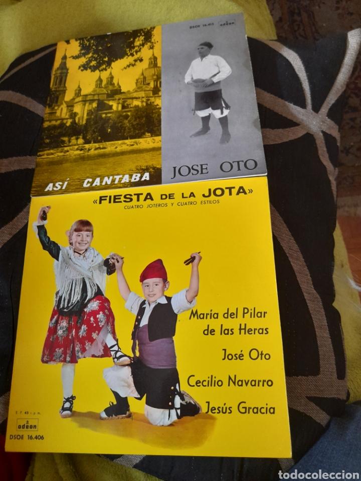 DOS ANTIGUOS VINILOS DE JOTAS ,A ESTRENAR (Música - Discos de Vinilo - Maxi Singles - Country y Folk)