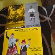 Discos de vinilo: DOS ANTIGUOS VINILOS DE JOTAS ,A ESTRENAR. Lote 257810125