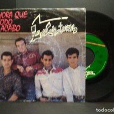 Discos de vinilo: LOS COMOTORAS AHORA QUE TODO ACABO SINGLE VIRGIN 1990 PROMO PEPETO. Lote 257817765