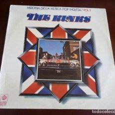 Disques de vinyle: THE KINKS - HISTORIA DE LA MUSICA POP INGLESA - VOL.1 - LP. Lote 257842130
