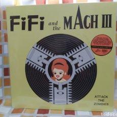 Discos de vinilo: FIFI AND THE MACH III–ATTACK THE ZOMBIES . LP VINILO VERDE PRECINTADO.EDICION 500 COPIAS. Lote 257849080