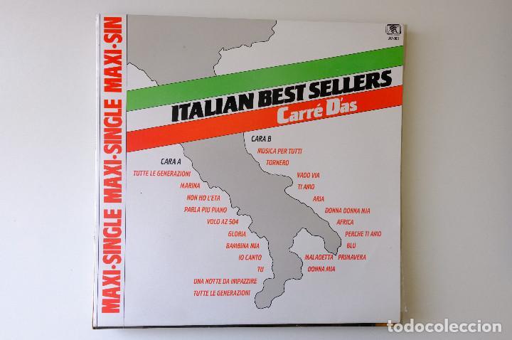 ITALIAN BEST SELLER. CARRÉ DAS MAXI SINGLE VINILO 12 (Música - Discos de Vinilo - Maxi Singles - Canción Francesa e Italiana)
