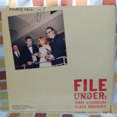 Discos de vinilo: FRANCE GALL FILE UNDER: SERGE GAINSBOURG ALAIN GORAGUER. LP VINILO NUEVO. Lote 257864565