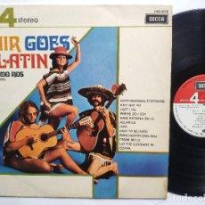 Discos de vinilo: EDMUNDO ROS Y SU ORQUESTA - LP SPAIN PS - MINT * HAIR GOES LATIN * AÑO 1970 * DECCA PFS4178. Lote 257866200