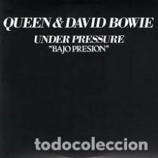 Discos de vinilo: QUEEN & DAVID BOWIE - UNDER PRESSURE = BAJO PRESIÓN. Lote 257877670