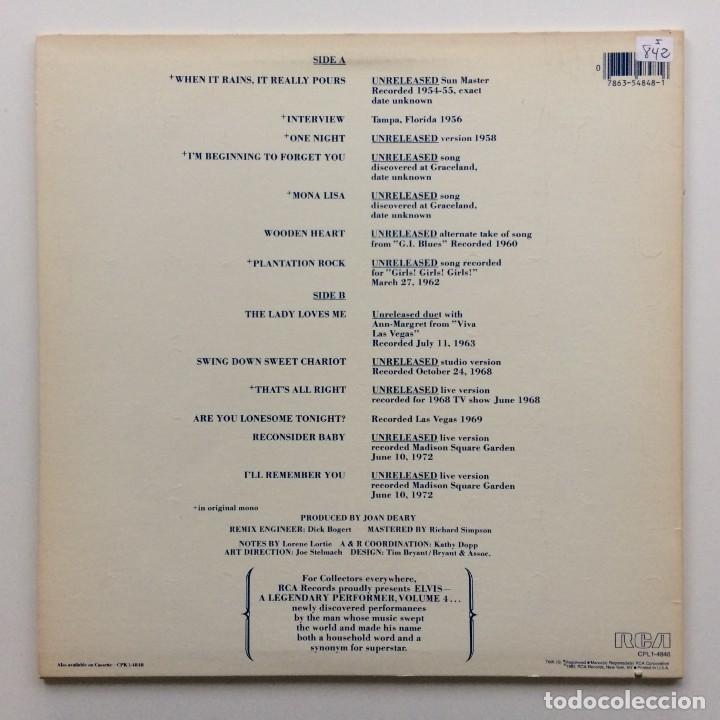 Discos de vinilo: Elvis Presley – A Legendary Performer - Volume 4 USA,1983 RCA - Foto 2 - 1310955
