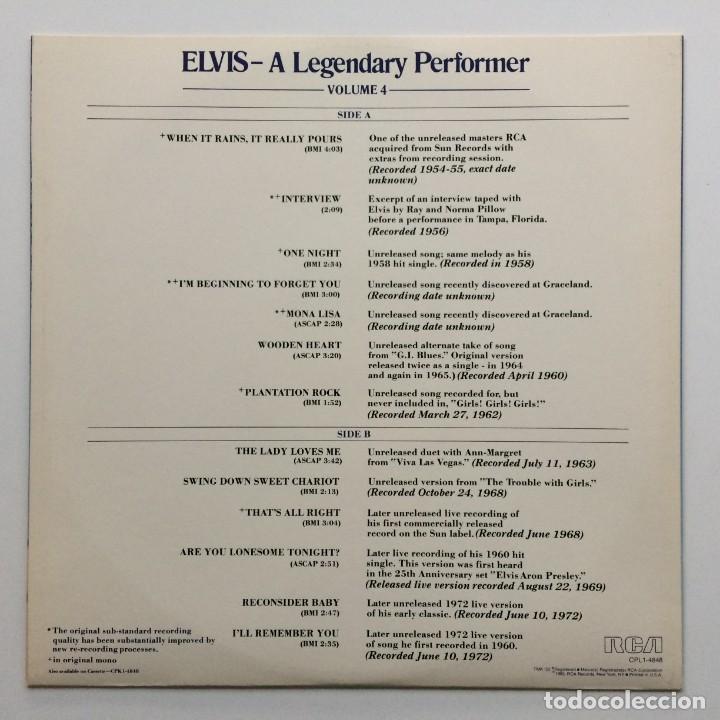 Discos de vinilo: Elvis Presley – A Legendary Performer - Volume 4 USA,1983 RCA - Foto 4 - 1310955