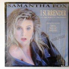 Discos de vinilo: SAMANTHA FOX - I SURRENDER - MAXI SINGLE VINILO. Lote 257881420