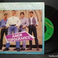 Discos de vinilo: LOSCOMOTORAS - AMOR TOPOGRAFICO / LUCILA *** SINGLE PROMOCIONAL 1989 PEPETO. Lote 257885555