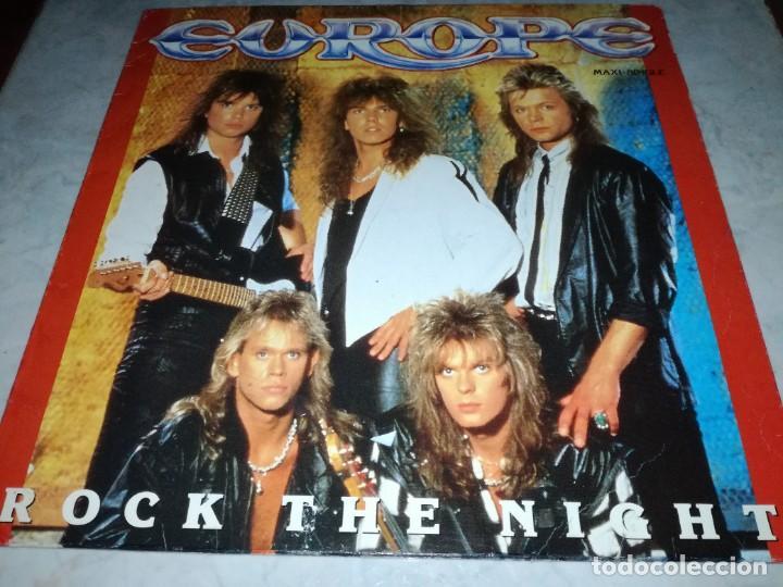 EUROPE-ROCK THE NIGHT-ORIGINAL ESPAÑOL (Música - Discos de Vinilo - Maxi Singles - Heavy - Metal)
