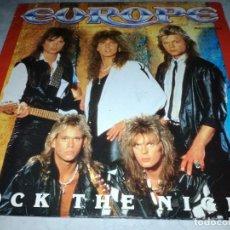 Discos de vinilo: EUROPE-ROCK THE NIGHT-ORIGINAL ESPAÑOL. Lote 257888545