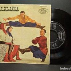 Discos de vinilo: BALALAIKA (PIERRE Y VLADIMIR SVETLANOFF) / GITANO / DOS GUITARRAS + 2 (EP 1963) PEPETO. Lote 257889640