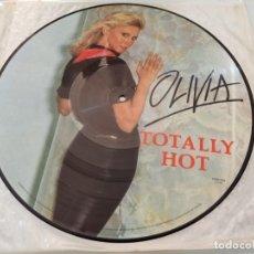 Discos de vinilo: OLIVIA NEWTON JOHN - TOTALLY HOT ..LP VINILO - PICTURE DISC - RARO DE VER - Y DIFICIL - COLECCION. Lote 257905235