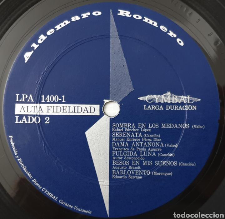 Discos de vinilo: LP ALDEMARO ROMERO & HIS SALON ORCHESTRA - Caracas at dinner time (Venezuela - Cymbal - 1959) NUEVO! - Foto 6 - 213750791