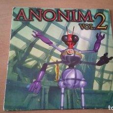 Disques de vinyle: MAXI ANONIM VOL 2 MOSKITO COLMENERO REQUENA COSTA DJS AT WORK AÑO 1997. Lote 257935405