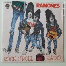 Dischi in vinile: RAMONES- DO YOU REMEMBER ROCK´N´ROLL RADIO- SPAIN PROMO SINGLE 1980.. Lote 257957625