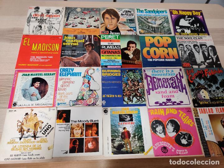 LOTE COLECCION 147 CARPETAS SIN VINILO! DE 7 EPS SINGLES DISCOS LA MAYORIA NACIONAL (Música - Discos de Vinilo - EPs - Pop - Rock Internacional de los 50 y 60)