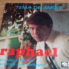 Discos de vinilo: **RAPHAEL - TEMA DE AMOR + 3 - EP AÑO 1967 - LEER DESCRIPCIÓN. Lote 258012020