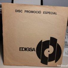 Discos de vinilo: SINGLE DEMO PROMOCIONAL DE EDIGSA : JOAN MANUEL SERRAT : CONILLET DE VELLUT. Lote 258030485