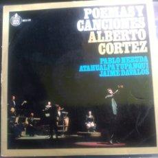 Discos de vinilo: ALBERTO CORTÈS. POEMAS Y CANCIONES.. Lote 258041625