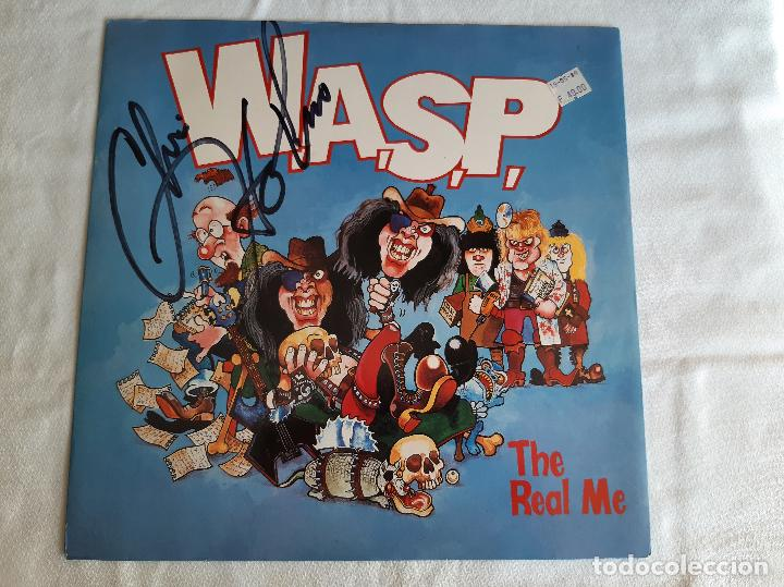W.A.S.P. -THE REAL ME- (1989) MAXI-SINGLE FIRMADO (Música - Discos de Vinilo - Maxi Singles - Heavy - Metal)