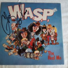Discos de vinilo: W.A.S.P. -THE REAL ME- (1989) MAXI-SINGLE FIRMADO. Lote 258044690