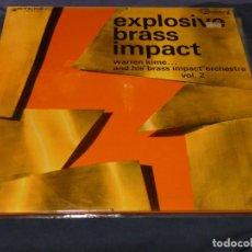 Discos de vinilo: LP JAZZ USA CIRCA 1965 WARREN KIME EXPLOSSIVE BRASS IMPACT VINILO CORRECTO COMMAND. Lote 258076395