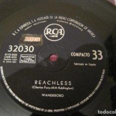 Discos de vinilo: SINGLE WANDEROBO RCA 32030 SPAIN 1961 33RPM. Lote 258098460