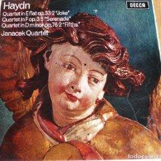 Discos de vinilo: LP HAYDN-JANACEK QUARTET-CUARTETO EN MI BEMOL-DECCA. Lote 258144215