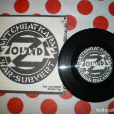 Dischi in vinile: ZOUNDS, CANT CHEAT KARMA, CRASS RECORDS, PUNK DE LOS 70 Y 80. Lote 258144960