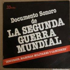 Discos de vinilo: DOCUMENTO SONORO DE LA SEGUNDA GUERRA MUNFIAL. Lote 258187645
