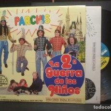 Discos de vinilo: LP PARCHIS LA 2° GUERRA DE LOS NIÑOS DISCO BSO AÑOS 80 CON ENCARTE PERFECTO ESTADO PEPETO. Lote 258208565