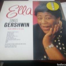 Discos de vinilo: LP ALEMANIA CIRCA 1989 MUY BUEN ESTADO ELLA FITZGERALD SINGS GERSHWIN. Lote 258211950