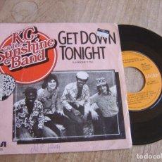 Discos de vinilo: K.C. & THE SUNSHINE BAND. -GET DOWN TONIGHT- 1975. PROBADO. Lote 258230780