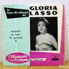 Discos de vinilo: GLORIA LASSO EN EL OLYMPIA - LA VOZ DE SU AMO AÑO 1958 EDITADO EN FRANCIA. DISCO DE PIZARRA.. Lote 258510880