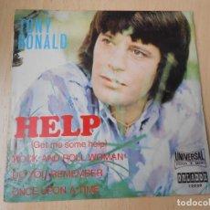 Disques de vinyle: TONY RONALD, EP, HELP (GET ME SOME HELP) + 3 , AÑO 1971. Lote 258517035