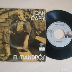 Discos de vinilo: JOAN CAPRI - EL MANDROS - RARO SINGLE ARIOLA 1972. Lote 258521740