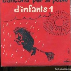 Discos de vinilo: CANÇONS PER AL POBLE . D' INFANTS 1. CONCENTRIC 1971. EP. AMB INSERTO PERFECTE ESTAT. Lote 258761585
