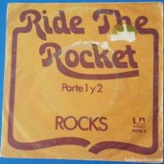 Discos de vinilo: SINGLE / ROCKS - RIDE THE ROCKET PARTE 1 Y 2, 1976. Lote 258785630