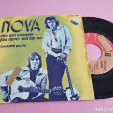 Disques de vinyle: NOVA - YOU ARE SUMMER ESPAÑA PROMO 1973 EUROVISION SUECIA. Lote 258801380
