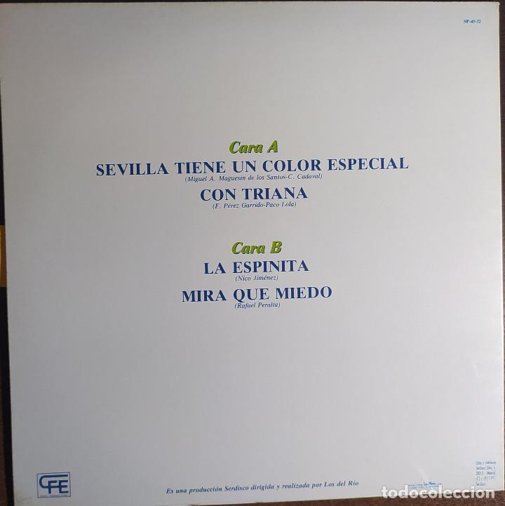 """Discos de vinilo: 12"""" LOS DEL RIO - Sevilla Tiene un Color Especial - sp-45.32 - MAXI - PROMO (G++/EX++) - Foto 2 - 258866470"""